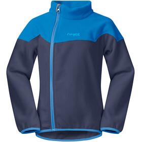 Bergans Kids Ruffen Fleece Jacket Navy/AthensBlue/PolarBlue
